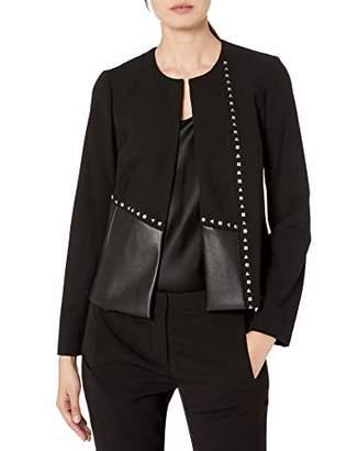 Calvin Klein Women's LUX PU Jacket with Studs