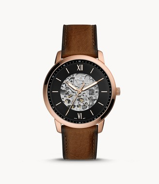 Fossil Neutra Automatic Brown Leather Watch