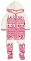 Angel Dear Infant Girls' Hooded Footie - Sizes 0-6 Months