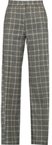 Eight Checked Wool-Blend Straight-Leg Pants