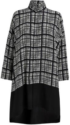 eskandar Check Block-Panel Shirt