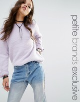 Glamorous Petite Knitted Sweater With Zip Sleeve Detail