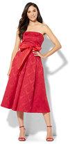 New York & Co. Jacquard Strapless Dress - Red