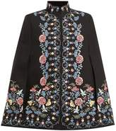 Vilshenko Roselyn stand-collar wool cape