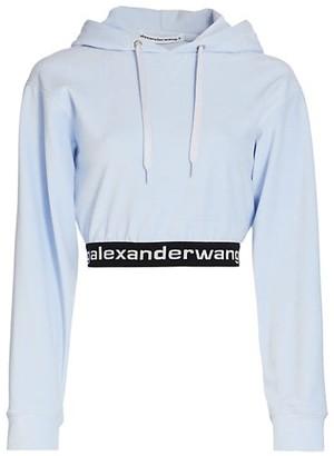 alexanderwang.t Stretch Corduroy Cropped Hoodie