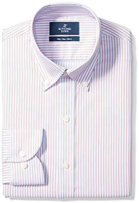 Buttoned Down Men's Slim Fit Button-Collar Pattern Non-Iron Dress Shirt