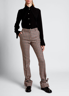 J.W.Anderson Checked Tie-Hem Trousers