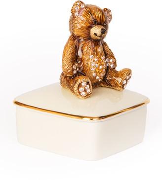 Jay Strongwater Teddy Bear Porcelain Box