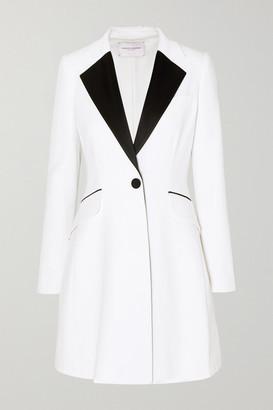 Carolina Herrera Satin-trimmed Cady Mini Dress - White