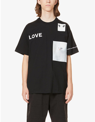 Burberry Graphic-print oversized cotton-jersey T-shirt