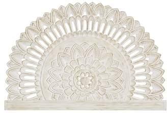 Pottery Barn Teen Mandala Carved Faux Headboard, White Wash