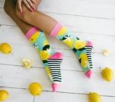 Woven Pear Food-Theme Socks