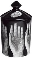 Fornasetti Mani Nero Otto Scented Candle With Lid