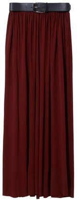 Proenza Schouler Leather Belted Jersey Maxi Skirt