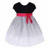 Girls 7-16 & Plus Size American Princess Velvet Top & Flocked Floral Skirt Dress