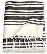 H&M Beach Towel - White/striped