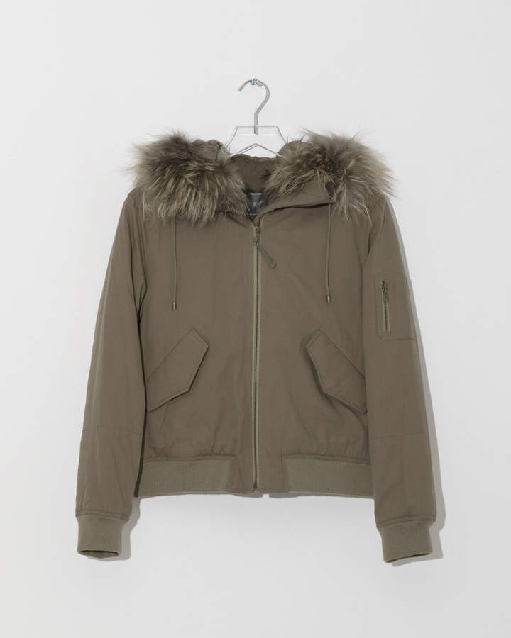 Yves Salomon Rabbit Army Jacket
