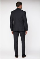 Jeff Banks Tonal Grid Texture Soho Suit Jacket - Charcoal
