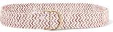 Maje Two-Tone Woven Cotton-Blend Belt