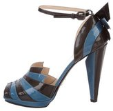 Prada Bi-Color Patent Leather Sandals