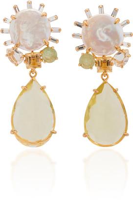Bounkit Lemon Quartz Drop Earrings