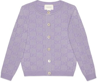 Gucci Children's GG sparkling wool cardigan