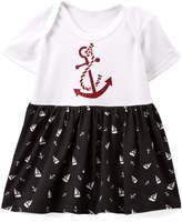 Beary Basics Black & White Sailboats Skirted Bodysuit - Infant