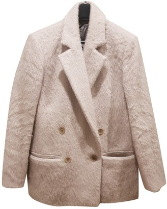 BLK DNM White Wool Coats