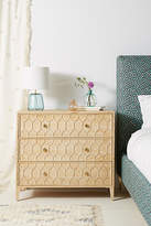 Anthropologie Textured Trellis Three-Drawer Dresser