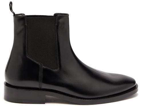 Balenciaga Evening Leather Chelsea Boots - Womens - Black