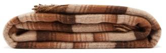 Gucci GG-jacquard & Check Wool Blanket - Beige Multi