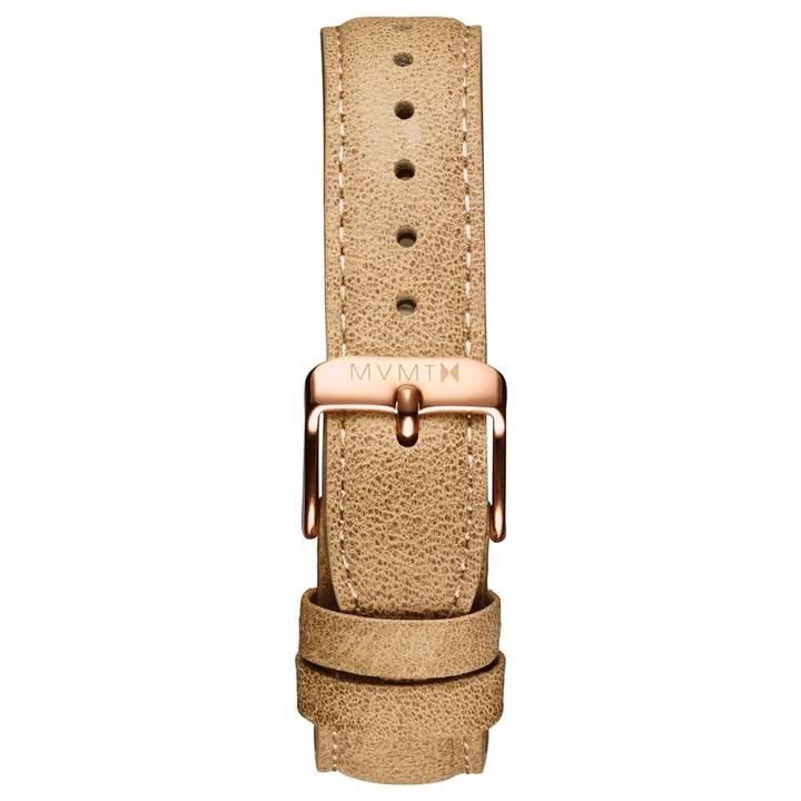 MVMT Womens Signature Series18mm Beige Leather