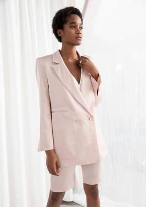 And other stories Long Fit Satin Blazer