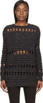 Damir Doma Midnight Navy Wool Oversized Kodera Sweater