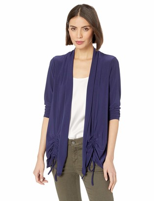 Chaus Women's L/S Ruched Knit Cardigan