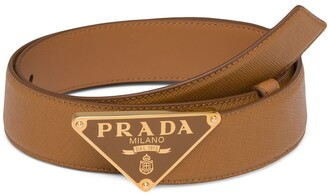 Prada Logo Plaque Belt