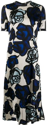 Marni Rose Print Midi Dress