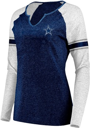 Unbranded Women's Plus Size NFL Dallas Cowboys Long-Sleeved Tee