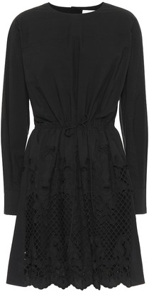 See by Chloe Cotton broderie anglaise minidress