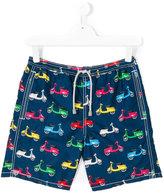Mc2 Saint Barth Kids - teen scooter print shorts - kids - Polyamide/Polyester/Spandex/Elastane - 14 yrs