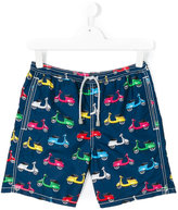 Mc2 Saint Barth Kids - teen scooter print shorts - kids - Polyamide/Polyester/Spandex/Elastane - 16 yrs