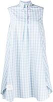 Thom Browne Micro Buffalo Check Shirt Dress