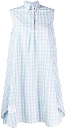 Thom Browne Check-Print Shirt Dress