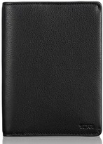Tumi Men's Leather Passport Cover - Black