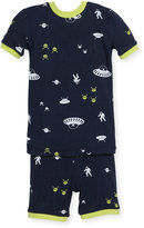 Petit Lem Alien Top & Pants Pajama Set, Navy, Size 12-24M