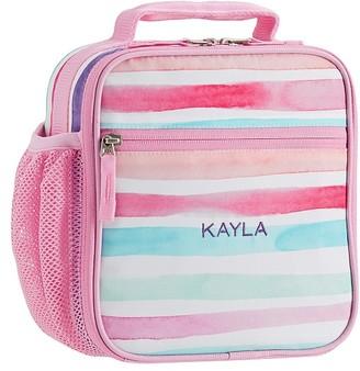 Pottery Barn Kids Mackenzie Pink Kayla Rainbow Stripes Lunch Boxes