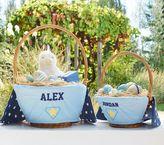 Pottery Barn Kids Super Hero Easter Basket Liner Blue