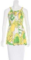 Tibi Floral Print Silk Top