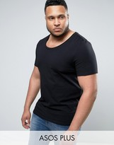 Asos PLUS Muscle T-Shirt With Scoop Neck In Black