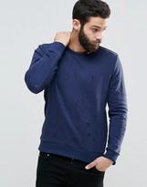 Religion Distressed Sweatshirt